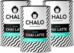 CHALO Chai Latte - Indian Lemongrass Chai Pakket - Zwarte Assam thee - 3 x 300GR
