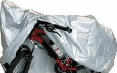Zwarte Bio-Logic Mirage fietsbeschermhoes 170T polyester zilver
