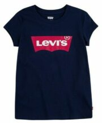 Levi's Kids T-shirt Batwing met logo donkerblauw/rood