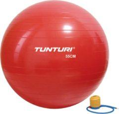 Tunturi Fitnessbal- Gymball - Swiss ball - Ø 55 cm - Inclusief pomp - Rood