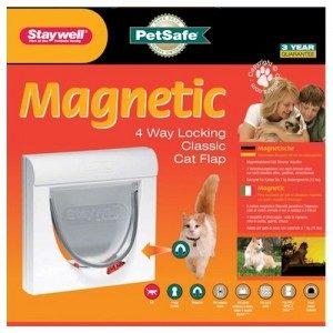 Afbeelding van Petsafe Dierenluik 932 Magnetic S - Kattenluik - 10.5x22.6x22.8 cm Wit 932