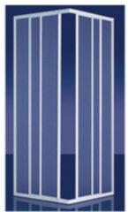 Zilveren Plieger Economy douchecabine hoekinstap 90x90x185cm aluminium profiel 4283000