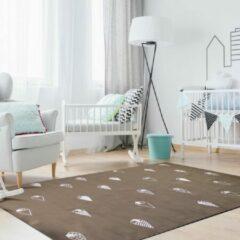 Bruine Sens Kids Rugs Ijsjes kindervloerkleed - kindertapijt - 135 x 200 cm - wasbaar - zacht - duurzame kwaliteit - speelgoed