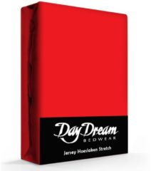 Day Dream Jersey Hoeslaken Rood-190 x 220 cm