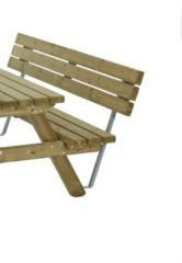Outdoor Life Products Rugleuning tbv picknicktafel 230cm