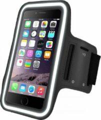 Zwarte DrPhone X1 - Reflecterende Sportarmband - Premium Hardloop Band voor elke Sport - Waterafstotend - Comfortabel - Verstelbaar - Oordoppen Aansluiting, Kaart en Sleutelvak - Geschikt voor de Google 4.7 tot 5.5 inch