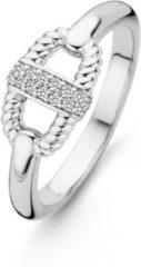 Ti Sento Milano Ti Sento 12140ZI ring met zirkonia en gedraaid zilver Maat 54 is 17.25mm