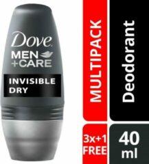 Dove Men+Care Dove Invisible Dry deo roller MEN - Voordeelverpakking 4 Stuks