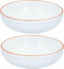 Witte Set van 2x stuks Jamie Oliver ontbijt / salade kommetjes 17 cm - Snackschaaltjes - Kommen