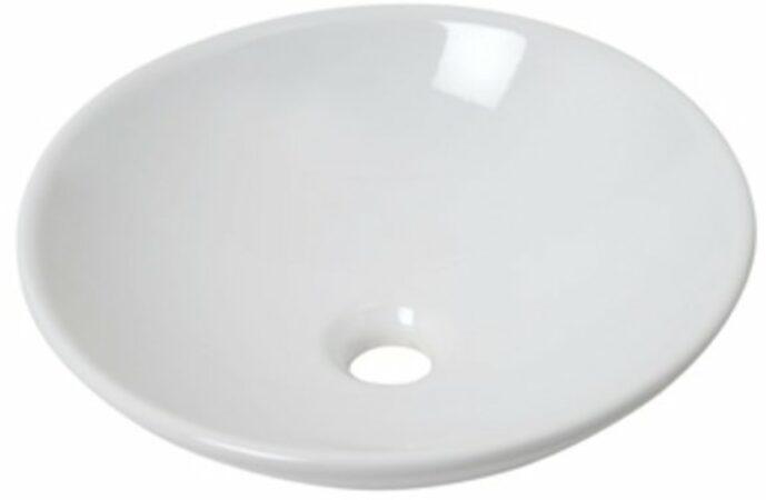 Afbeelding van Plieger Bowl waskom rond 40x10cm wit 4338148
