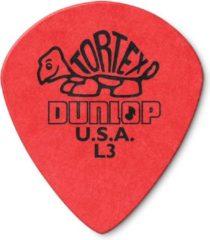 Dunlop Tortex Jazz plektrums L3 rood spitz, 36er Set navulpak