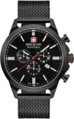 Swiss Military Hanowa 06-3332.13.007 Horloge chrono saffierglas 45 mm