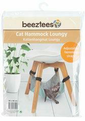 Beeztees loungy - kattenhangmat - voor stoel - grijs - 40x40 cm