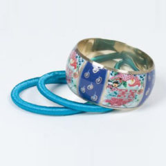 Blauwe Sarlini fashion bangle Blauw