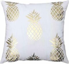 Gouden By Javy Kussenhoes Soft Gold - Ananas - Kussenhoes - 45x45 cm - Sierkussen - Polyester