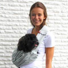 Grijze 4Lazylegs Huisdieren draagzak Pocket Canvas 7 kg grijs canvas 3027