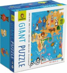 Ludattica Puzzels: DIERENWERELD - Giant puzzel 18x18x10,5cm, 48-delig, 100x70cm, 3+