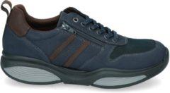 Blauwe Xsensible Stretchwalker Mannen Leren Sneakers - 30073.2 - 42