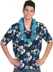 Blauwe Hawaii Thema Verkleed Blouse Overhemd Honolulu - Hawaii Kleding Shirts 56-58 (2xl/3xl)