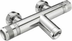 Douche Concurrent Badkraan Xenz Chronos 33.4cm Thermostatisch Opbouw Rond Chroom 2 Greeps Safe Touch