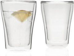 Transparante Leonardo Duo Dubbelwandig Latte Macchiato glas - 2 stuks