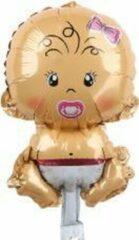 Feestballonnenverkoop Baby ballon - 68x45cm - Roze - Folie ballon - Themafeest - Babyshower - Geboorte - It's a Girl - Versiering - Ballonnen - Helium ballon - Geboorte Cadeau Meisje - Kraam Ballon - Babyshower versiering - Baby shower folie ballonnen