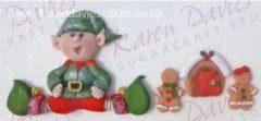 Paarse Karen Davies Sitting Elf Silicone Mould