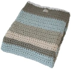 Blauwe Fair and cute - ledikantdeken - mixed light blue - mamas 4 mamas