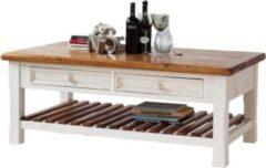 Möbel Ideal Couchtisch Bodde in Kiefer Massivholz Weiß / Honig
