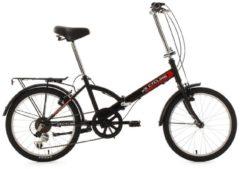 KS Cycling Faltrad, 20 Zoll, schwarz, 6 Gang Kettenschaltung, »Classic«