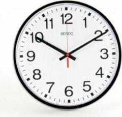 BerdoTime klok 30 cm Zwart met stil uurwerk
