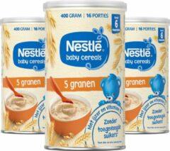 Nestlé Baby Cereals 5 Granen - babypap - vanaf 6 maanden - 3 stuks