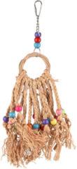 Flamingo Vogelspeelgoed Ring En Gekleurde Kralen - Vogelspeelgoed - 39 cm Multi-Color