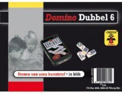 Domino spel dubbel 6/double 6 in blik en 28x gekleurde stenen - Dominostenen - Domino spellen - Familie spellen