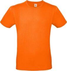 Bc Oranje t-shirt met ronde hals voor heren - basic shirt - katoen - Koningsdag / Nederland supporter S (48)