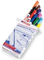 Edding edding 400 4-400999 Permanent marker Zwart, Rood, Geel, Oranje, Blauw, Groen, Bruin, Violet, Roze, Lichtblauw Watervast: Ja