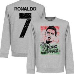 Grijze Retake Ronaldo 7 Portugal Flag Sweater - XXL