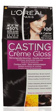 Afbeelding van Zwarte L'Oréal Paris LâOréal Paris Casting Crème Gloss haarkleuring - 100 Black Caviar