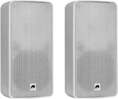 Omnitronic ODP-206T 6 inch 11 Volt installatiespeaker set, wit