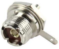 Zilveren Valueline PL259 plug kontra chassisdeel