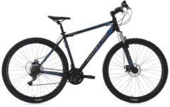 KS Cycling Hardtail-Mountainbike Herren, 26/29 Zoll, 21 Gang-Shimano Tourney, schwarz-blau, »Sharp«