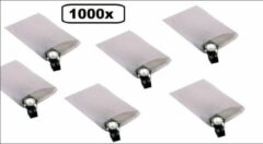 Thema party 1000x Papieren zak kraft 12x18cm 40 gram wit gebleekt