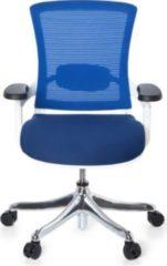 Bürostuhl SKATE STYLE Sitz Stoff blau / Rücken Netz blau / Rahmen weiß hjh OFFICE