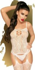 Penthouse Lingerie Sexy Lingerie - Bodystocking - Eye of the storm - Wit - S-L - PENTHOUSE - Luxe Verpakking