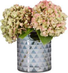 Relaxdays Deko Vase mit Grafikdruck