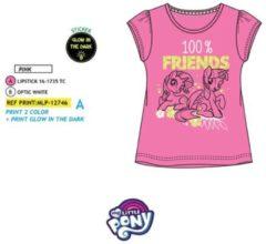 My Little Pony - Kinder/kleuter - t-shirt - Glow in the dark - roze - maat 104
