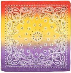 Attitude Holland Bandana Red, Yellow & Purple Tri Tone Paisley Mondkapje Multicolours