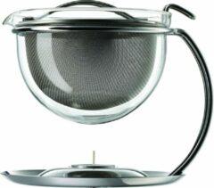 Transparante Mono Filio theepot 0,6 liter met geïntegreerde warmhoudplaat