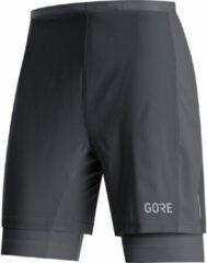 GORE Wear - R5 2in1 Shorts - Hardloopshort maat XL, zwart/grijs