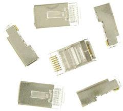 Grijze Kopp utp stekkers afgeschermd 8-polig rj45 6 stuks